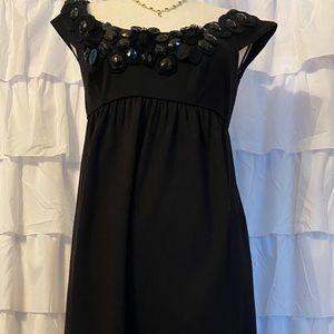 Donna Morgan Black Embellished Size 6 Dress